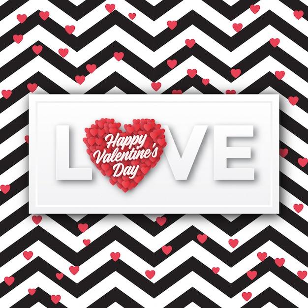 Valentine's day greeting card design Premium Vector