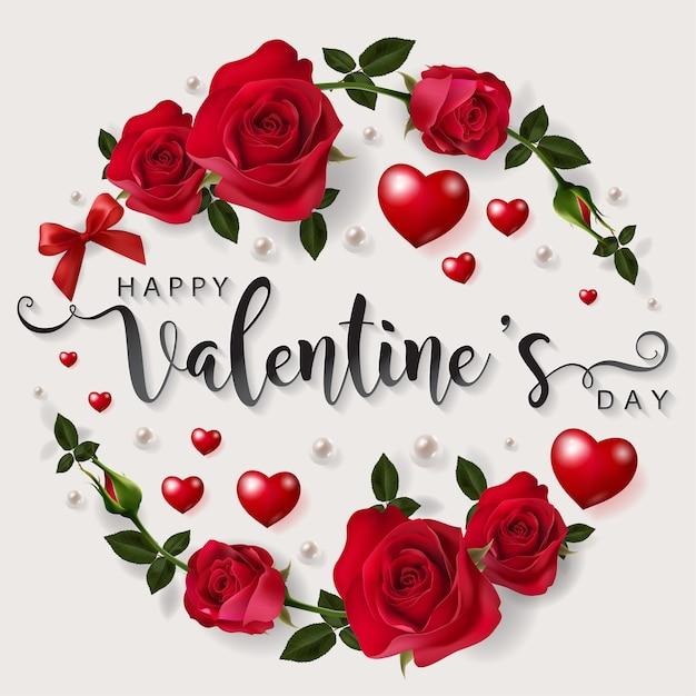 premium vector  valentine's day greeting card templates