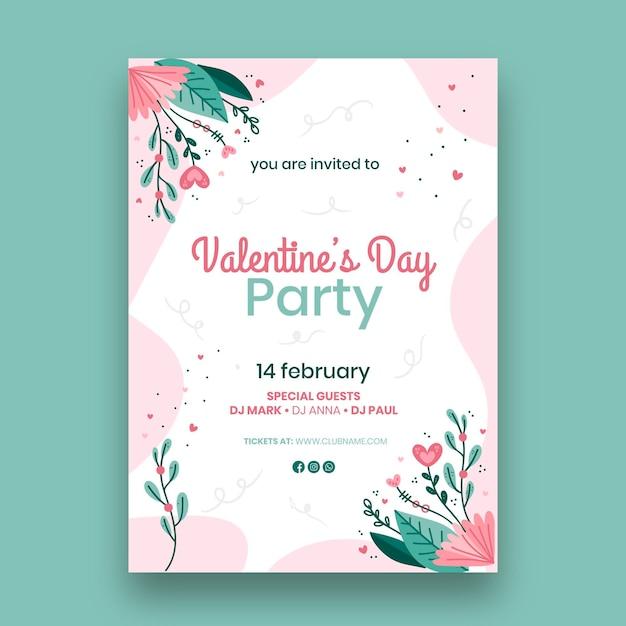 발렌타인 데이 인사말 카드 무료 벡터