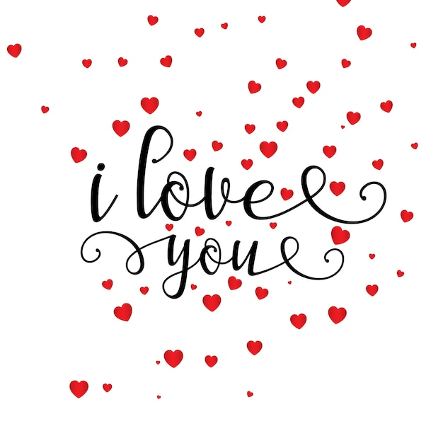 Valentine\'s Day heart background with\ decorative text