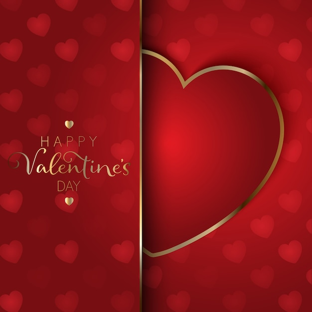Valentine S Day Heart Background Vector Free Download