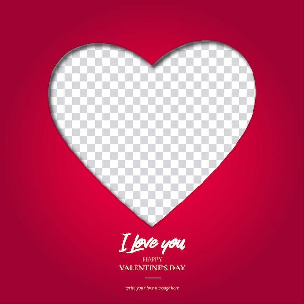 Valentine's day heart background Free Vector