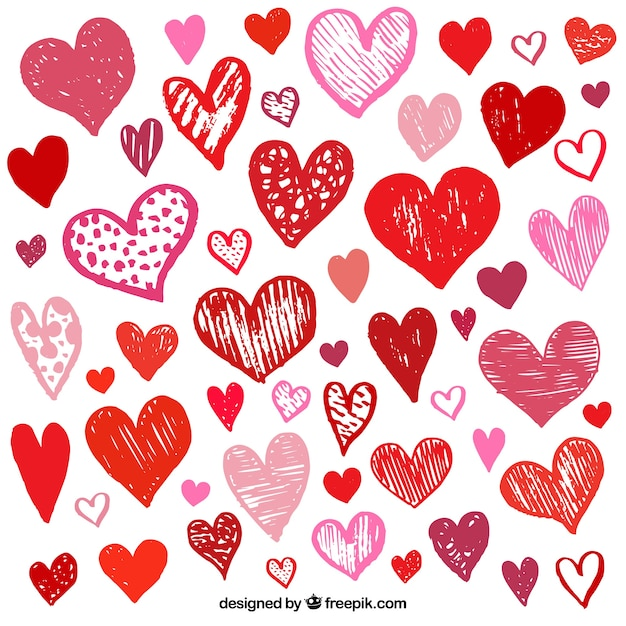 Valentine\'s day heart collection