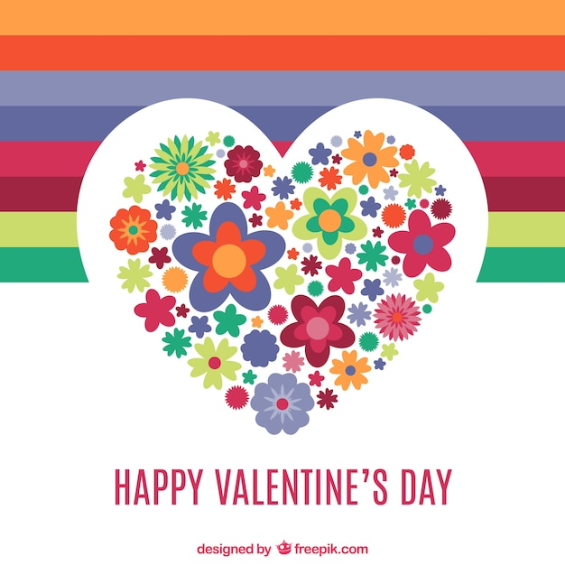Valentine S Day Heart Of Flowers Vector Free Download