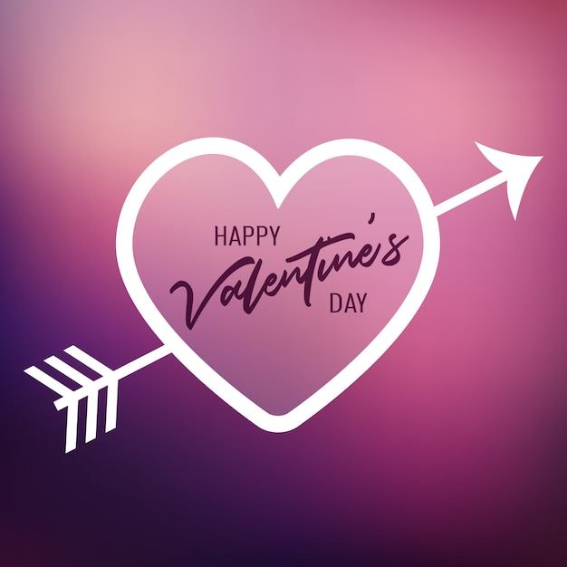 Valentine\'s Day heart on a blur background Vector | Free Download