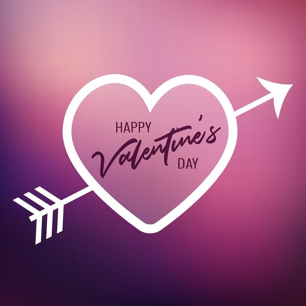 Valentine\u0027s Day Heart On A Blur Background Vector | Free Download