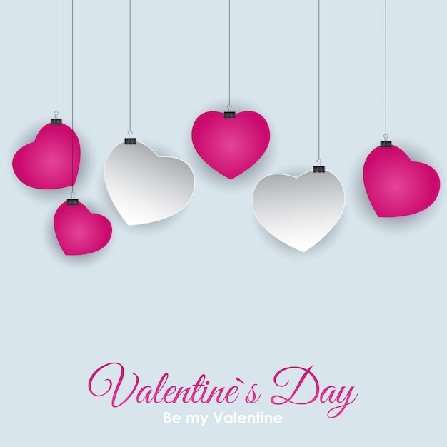 Valentine s day heart symbol. love and feelings background desig Premium Vector