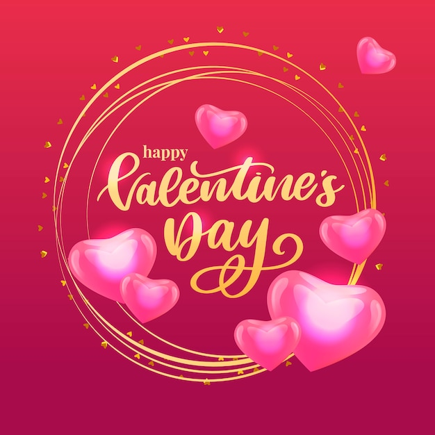 Valentine's day illustration Premium Vector