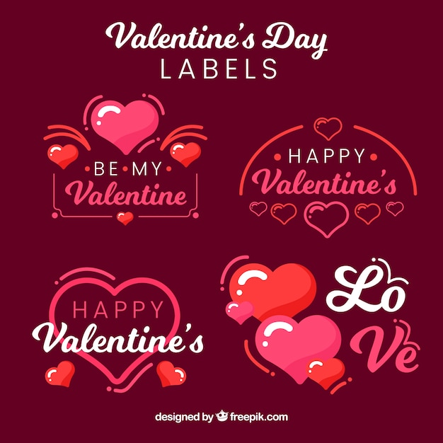 Valentine\'s day label collection