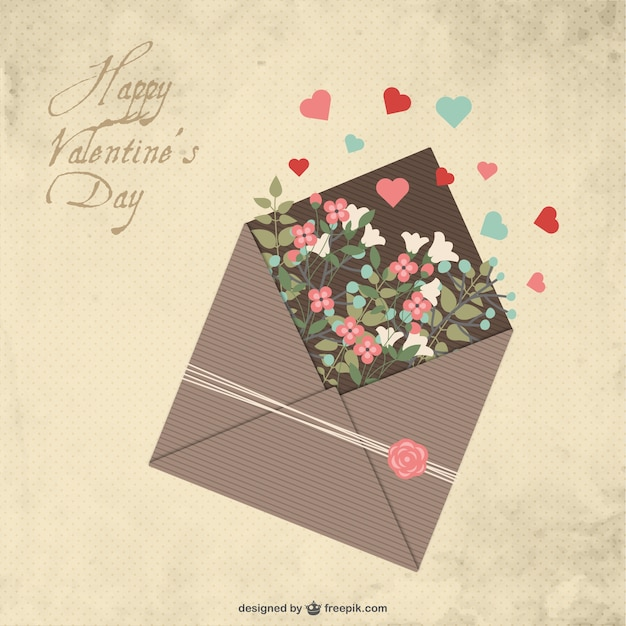 Valentine S Day Letter Vector Free Download