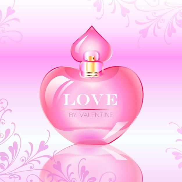 valentines day love perfume bottle vector illustration free vector - Valentine Perfume