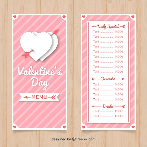 Valentines Day Menu Template V4 By Thats Design Store