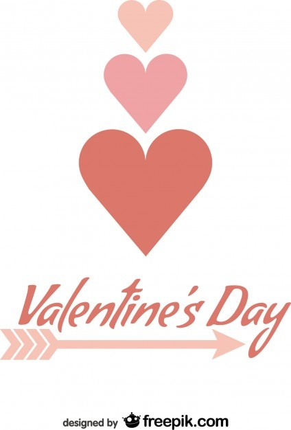 Valentineu0027s Day Minimalist Card Design Arrow Typography Free Vector