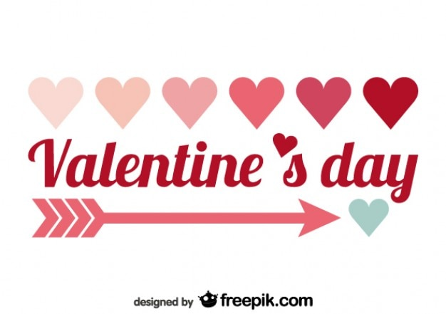 Valentine S Day Minimalist Red Text Design Vector Free Download