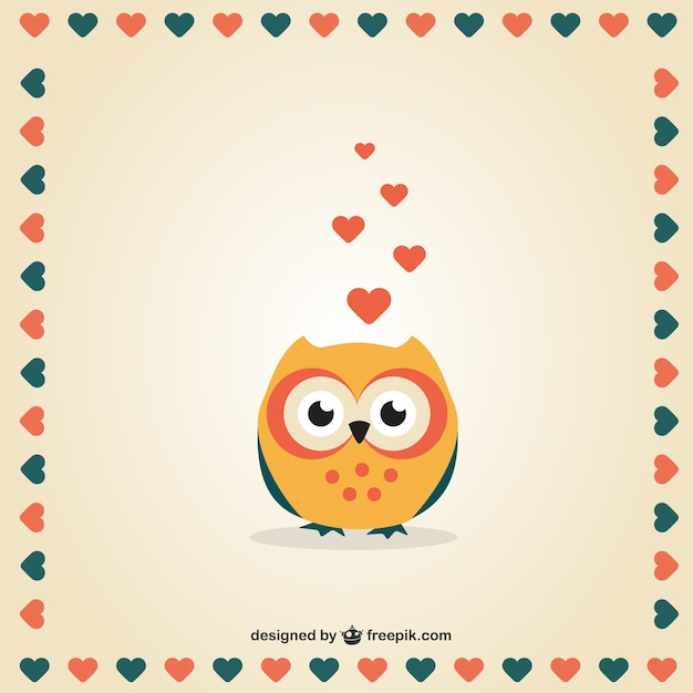 Valentine S Day Owl Vector Free Download