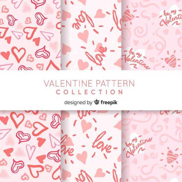 Valentine's day pattern collection Premium Vector