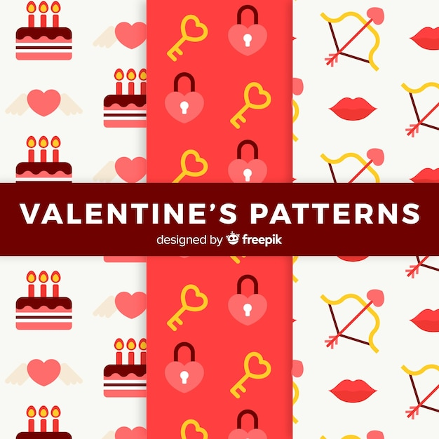 Valentine's day pattern Free Vector
