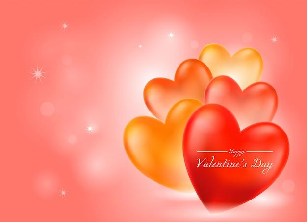 Valentine's day pink background Premium Vector