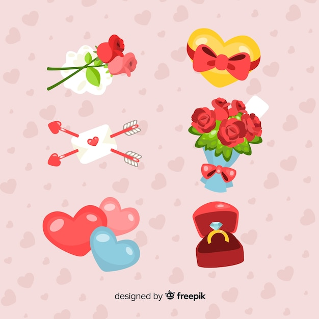 Valentine S Day Presents Collection Vector Free Download