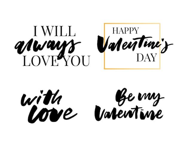 Valentine's day quote collection Premium Vector