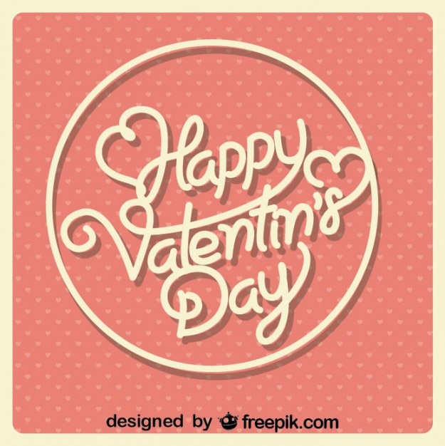 Valentine 39 s day red retro heart card design vector free for Valentines day card design