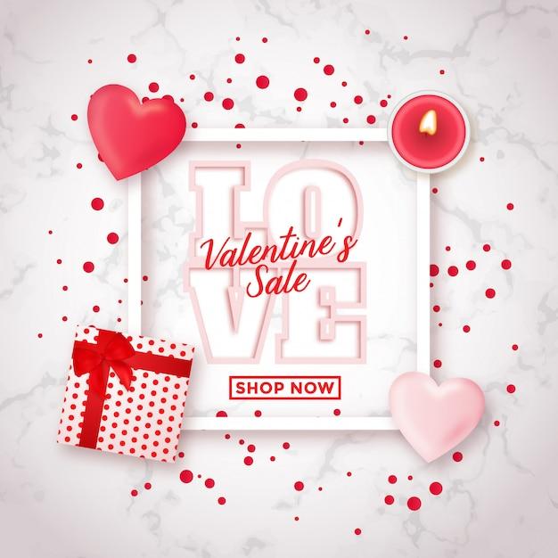 Valentine's day sale design Premium Vector