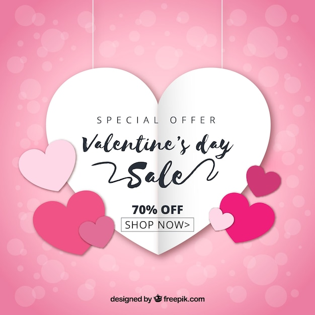 Valentine\'s day sale Vector | Free Download