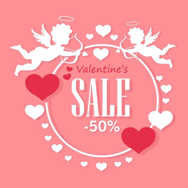 Valentine's day sale Premium Vector