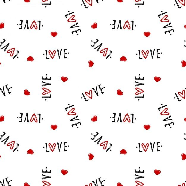 Valentine's day seamless pattern Premium Vector