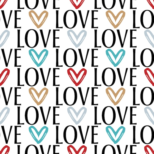 Valentine's day seamless pattern Premium Vector