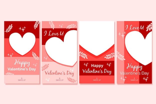 Valentine's day story collection Free Vector