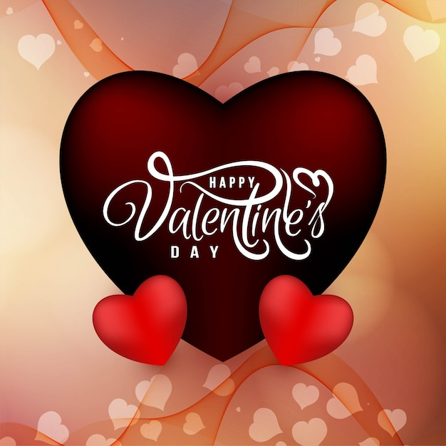 Valentine's day stylish love background vector Free Vector