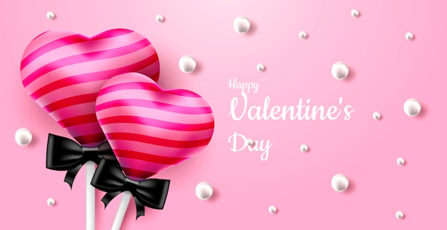 Valentine's day sweet background Premium Vector