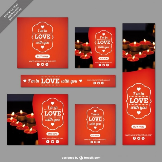 Valentine's day templates Free Vector