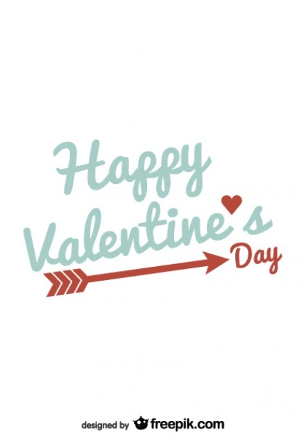 Valentines Day Typography Minimalist Card Design Free Vector