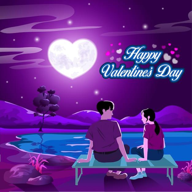 Valentine's day wish Premium Vector