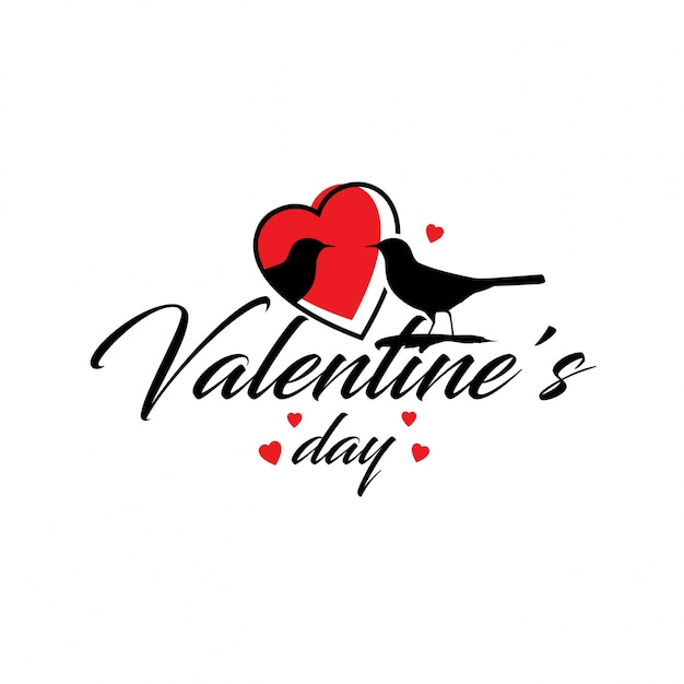 Valentine's day with hearts Free Vector