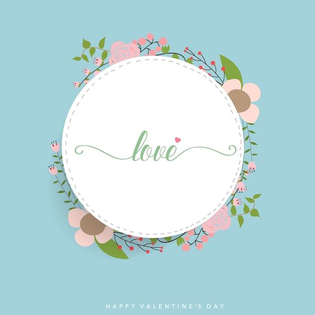 Valentine\'s frame design Vector | Free Download