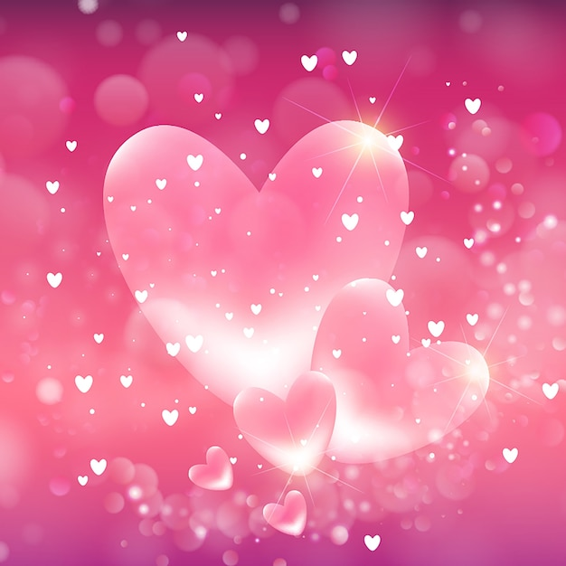 Valentine S Hearts Background Vector Free Download