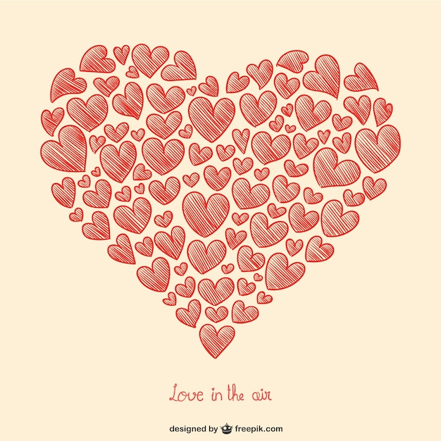 Valentine S Hearts Drawing Vector Free Download