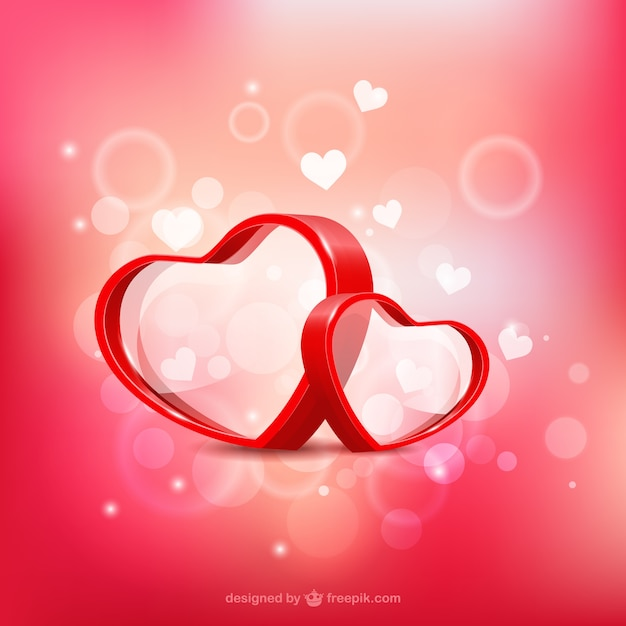 Valentine's hearts Vector | Free Download