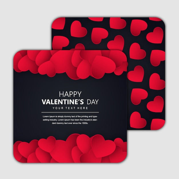 Valentine's invitation design cards Free Vector
