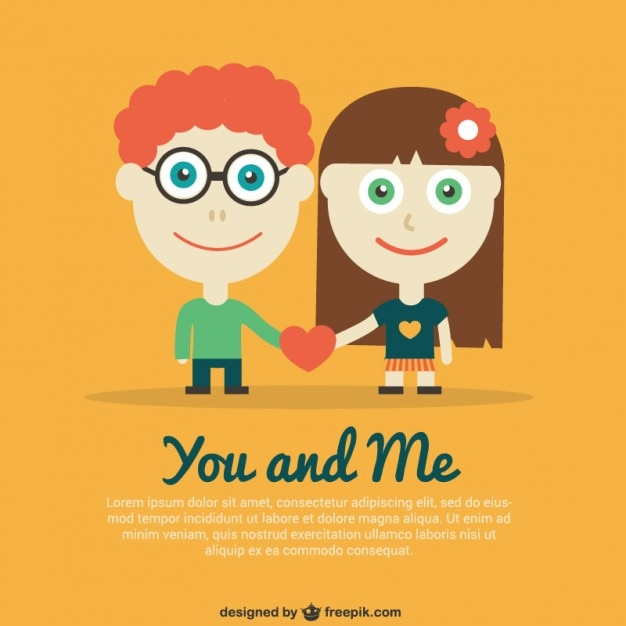 valentines template with couple free vector