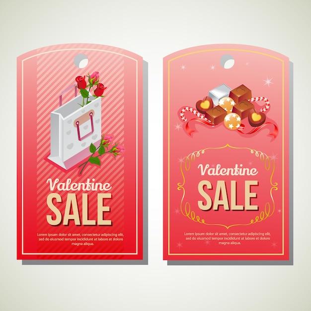 valentine sale tag template vector premium download