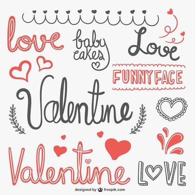 Valentine scribbles