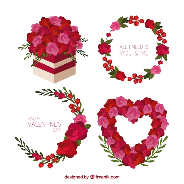 Valentine wreath and bouquet set