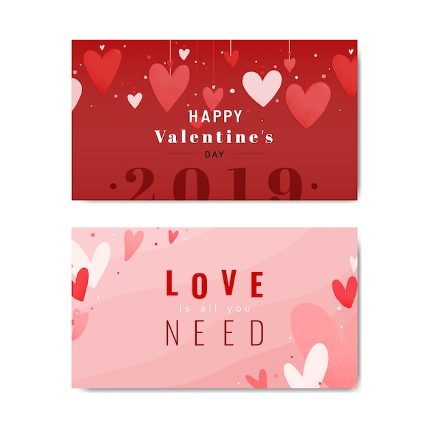 Valentines card design Free Vector