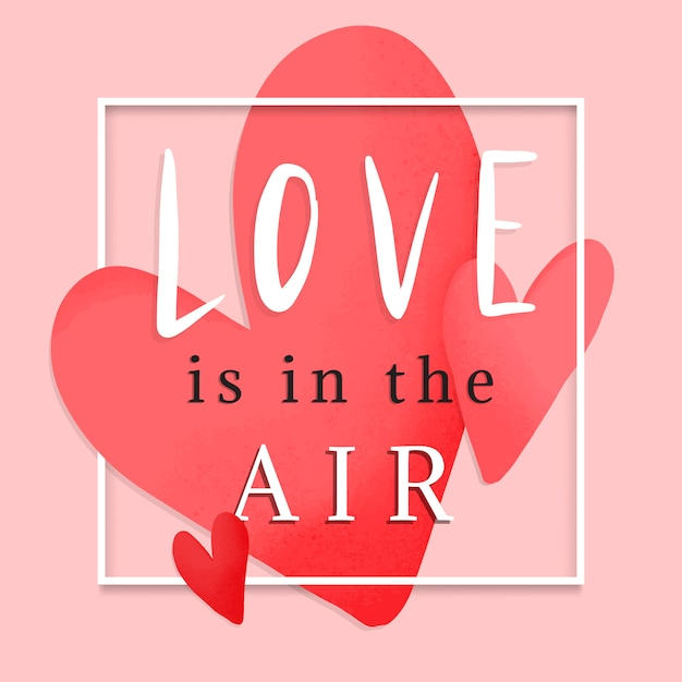 Valentines card design Free Vector