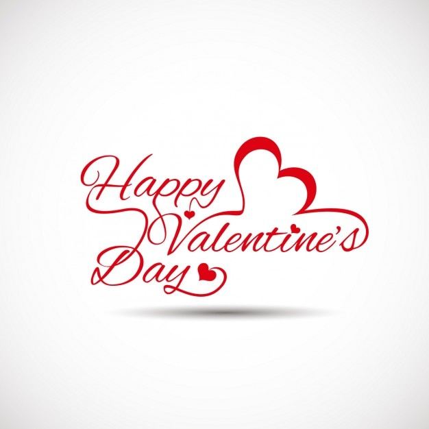 Valentines Card With White Background Vector Free Download