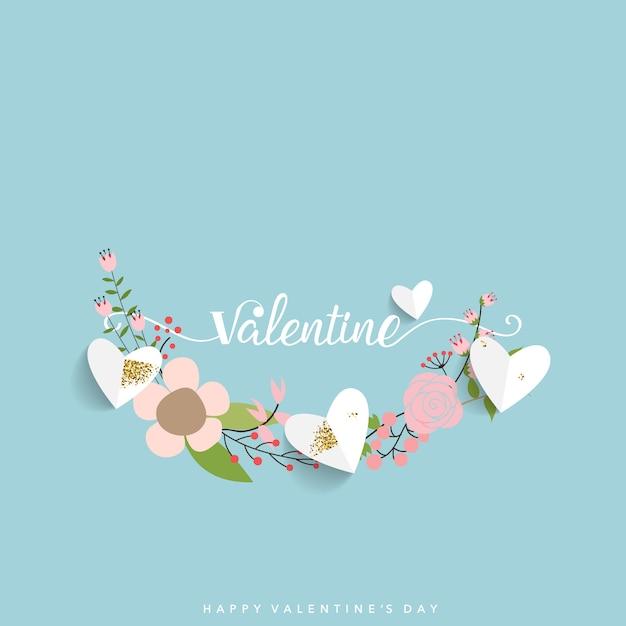 Valentines day background design. Premium Vector